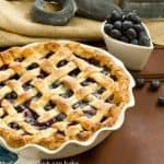 Lattice Topped Blueberry Pie #DessertChallenge