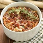 Prosciutto, Gorgonzola and Rosemary Strata #SundaySupper
