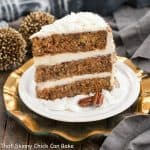 Caramel Filled Carrot Cake with Cream Cheese Frosting