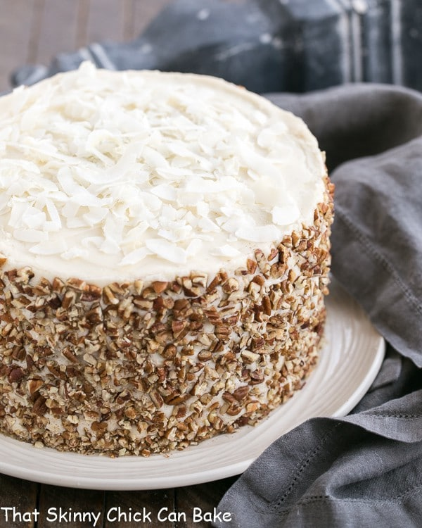 Layer Praline Cake With Caramel Cream Cheese Filling