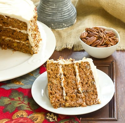 Carrot Cake With Caramel Filling