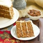Carrot Cake with Caramel Filling and Cream Cheese Frosting
