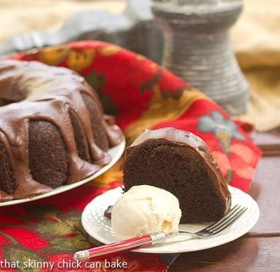 Chocolate Sour Cream Bundt Cake SecretRecipeClub That Skinny
