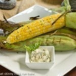 Grilled Corn on the Cob with Basil Butter