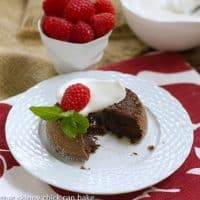 Lava Cakes with Kahlua Whipped Cream
