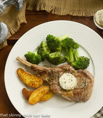 Veal Chops with Rosemary Butter #FrenchFridayswithDorie