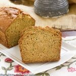Sugar Crusted Zucchini Bread #SundaySupper
