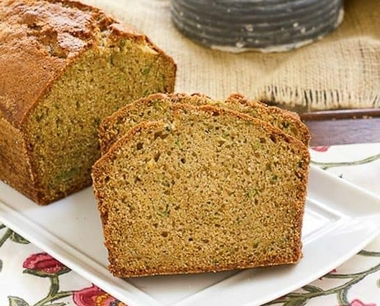 Sugar Crusted Zucchini Bread | A classic zucchini bread recipe with a sweet sugar crust
