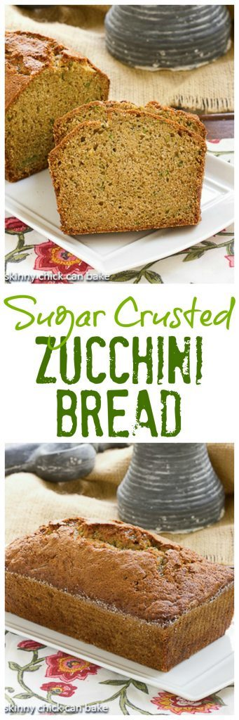 Sugar Crusted Zucchini Bread pinterest collage
