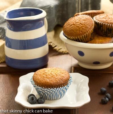 Sour Cream Blueberry Muffins | Moist, tender and full of berries!