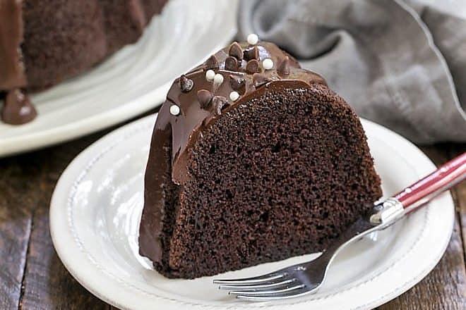 Chocolate Sour Cream Bundt Cake featured image