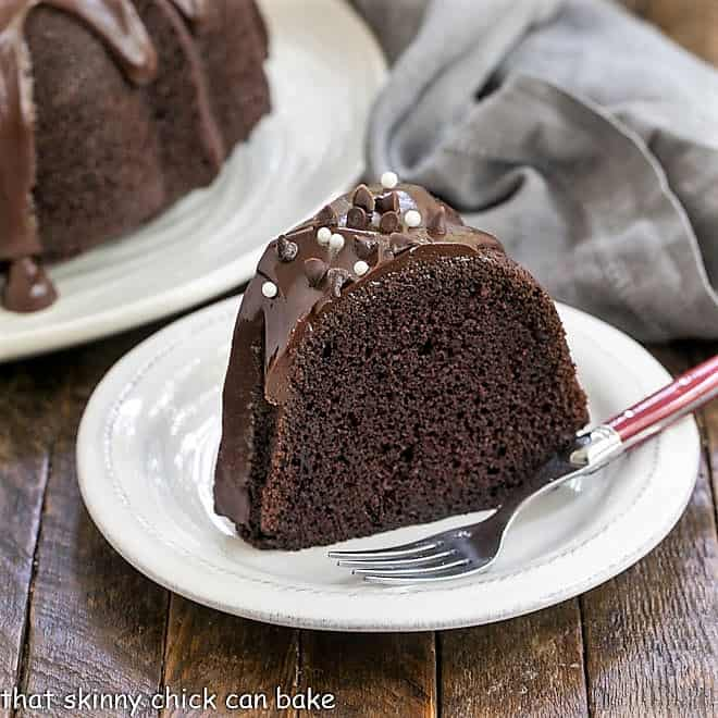 Chocolate Sour Cream Bundt Cake featured image