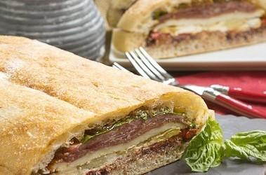 Pressed Brick Sandwich | Perfect picnic or lunch fare!
