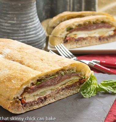 Pressed Brick Sandwich | Perfect picnic or lunch fare!