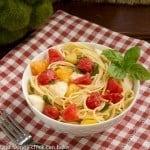 Spaghetti No-Knife in a white bowl