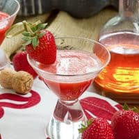 Strawberry Bellinis   A berry twist on the Italian classic!!