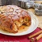 Apple Monkey Bread | Super easy, irresistible breakfast made in the crockpot