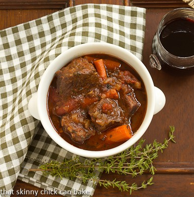 Beef Stew with Red Wine and Carrots