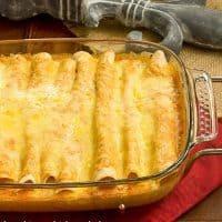 Irresistible, Cheesy Chicken Enchiladas from scratch!