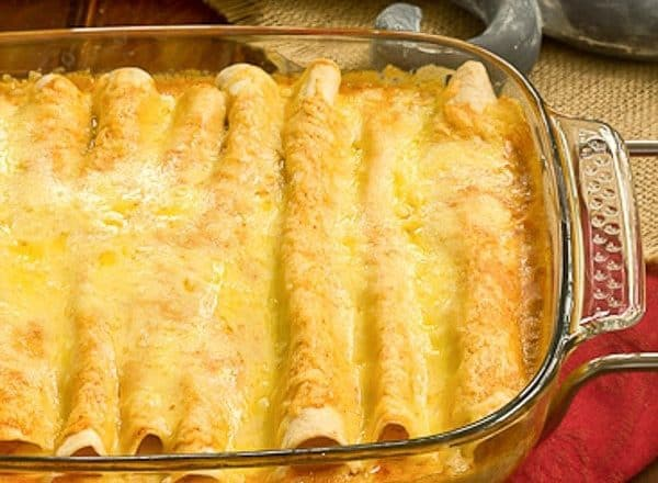 Irresistible, Cheesy Chicken Enchiladas from scratch!