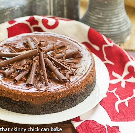 Double Chocolate Cheesecake | When you need a chocolate desserts that will make jaws drop!