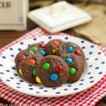 M&M Brownie Cookies #ChocolateParty