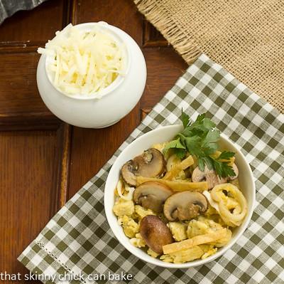 Mushroom and Leek Migas