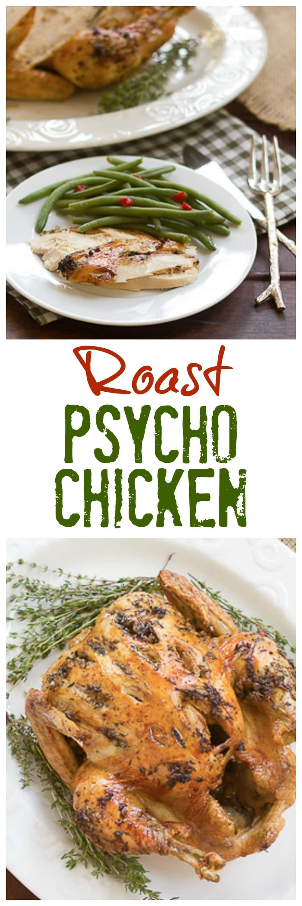 Roast Psycho Chicken | A slashing technique and a few ingredients make for a succulent entree!