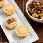 Mini Pumpkin Cheesecakes with Gingersnap Crusts #DessertChallenge