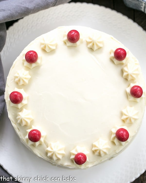 Red Velvet Cake with White Chocolate Cream Cheese Frosting | Triple layered decadence