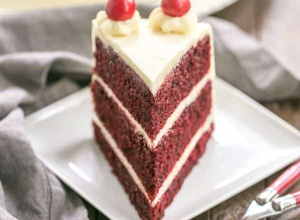 Red Velvet Cake With White Chocolate Cream Cheese Frosting Triple Layered Decade
