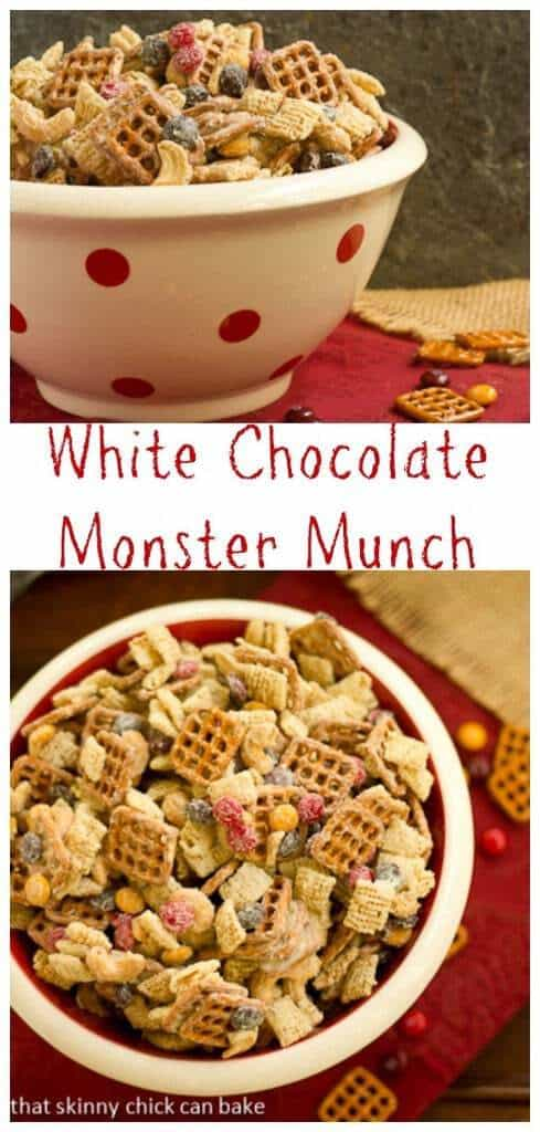 White Chocolate Monster Munch | Perfect snack mix for Halloween!