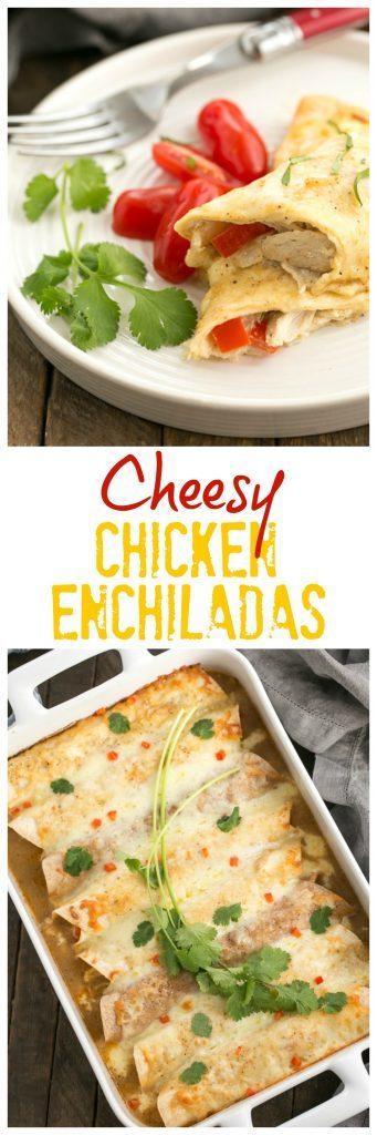 Cheesy Chicken Enchiladas | Irresistible, Cheesy Chicken Enchiladas from scratch!