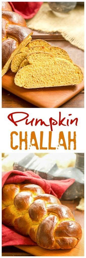 Pumpkin Challah | An autumn twist on this classic braided loaf