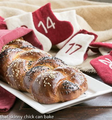 Perfect Braided Challah from Baking with Julia on a white tray