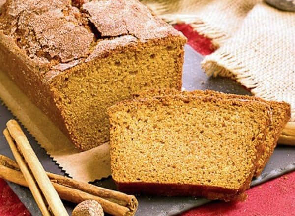 Cinnamon Crusted Pumpkin Bread | A dusting of cinnamon spice pushes this pumpkin bread over the top!