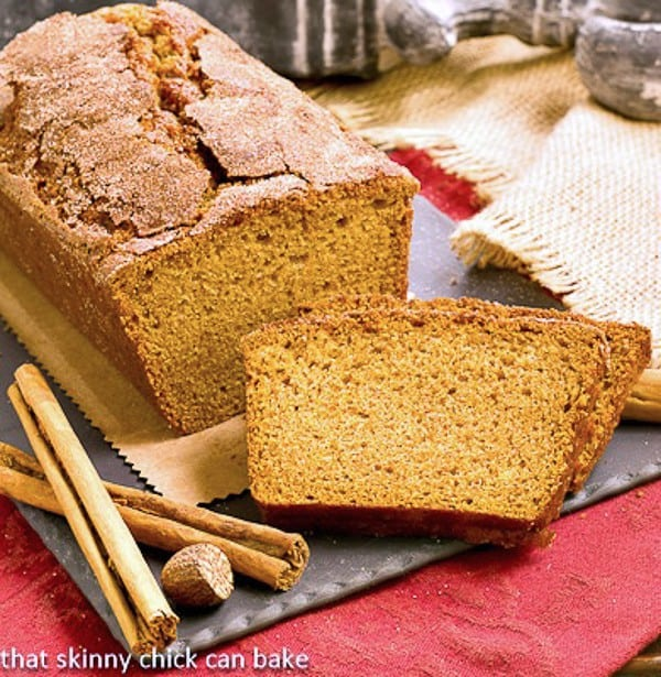 Cinnamon Crusted Pumpkin Bread   A dusting of cinnamon spice pushes this pumpkin bread over the top!