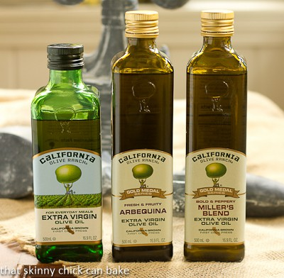 3 bottles of California Olive Ranch olive oil
