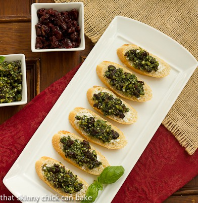 Cranberry Pesto Goat Cheese Crostini - That Skinny Chick ...