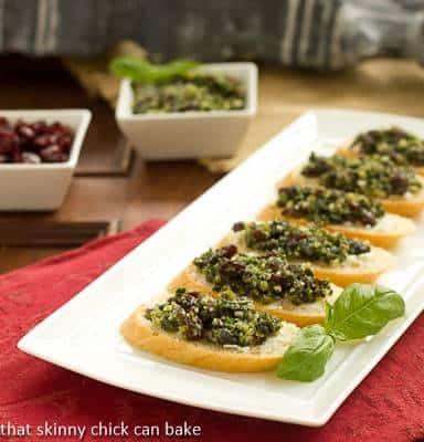 Cranberry Pesto Goat Cheese Crostini #DIYEVOO