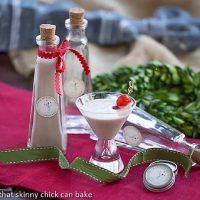 Homemade Baileys Irish Cream in a decorative bottle