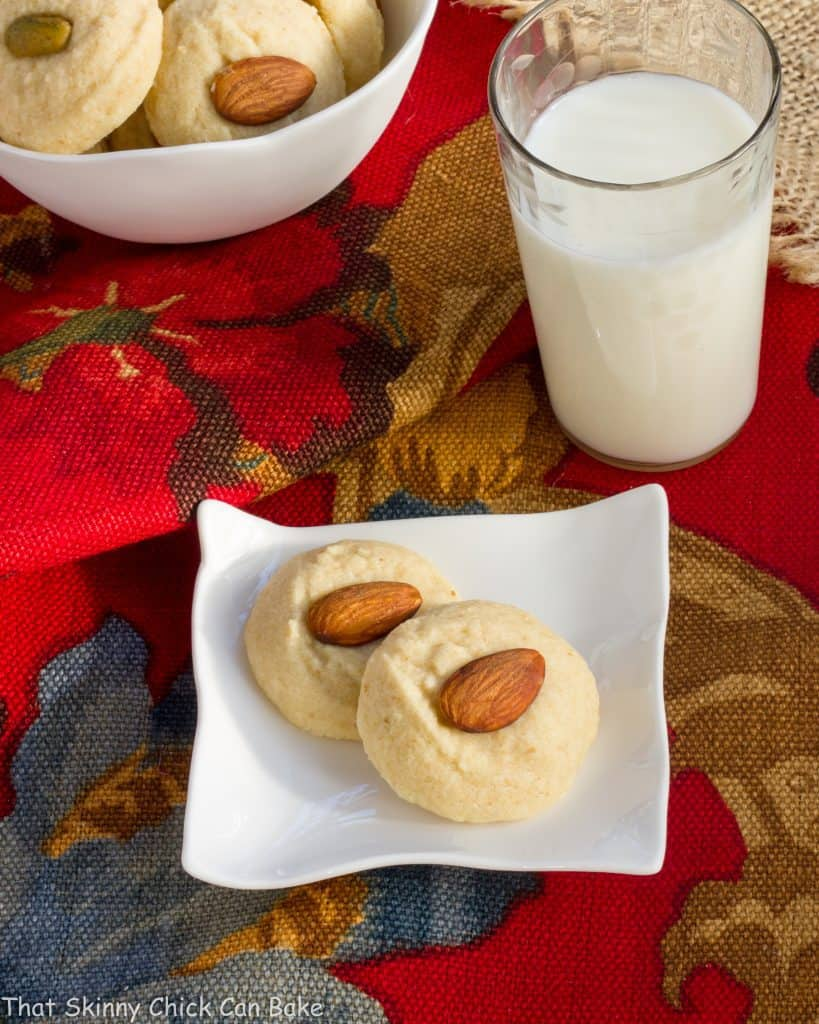 Ghraybeh or Lebanese Shortbread Cookies