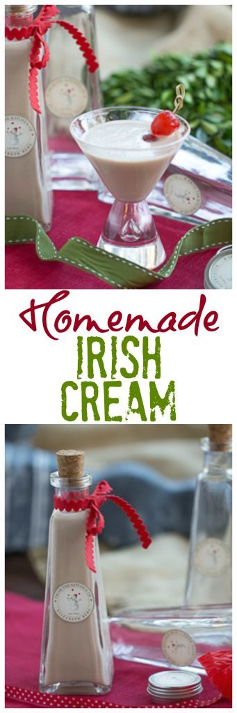 Homemade Bailey's Irish Cream | An easy to make liqueur that's perfect for holiday gifting!