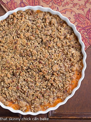 Praline Topped Sweet Potato Casserole |  Perfect Thanksgiving side dish