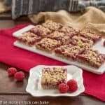Raspberry Streusel Bars #CookieWeek #Giveaway