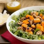 Arugula Salad with Roasted Butternut Squash