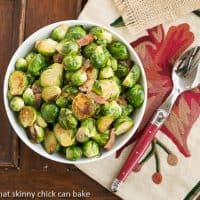 Brussels Sprouts with Bacon, Shallots and Garlic