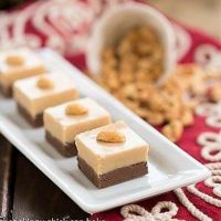 Layered Chocolate Peanut Butter Fudge