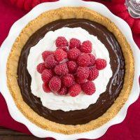 Chocolate Satin Pie | Dreamy chocolate filling in a graham cracker crust!