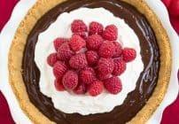 Chocolate Satin Pie   Dreamy chocolate filling in a graham cracker crust!